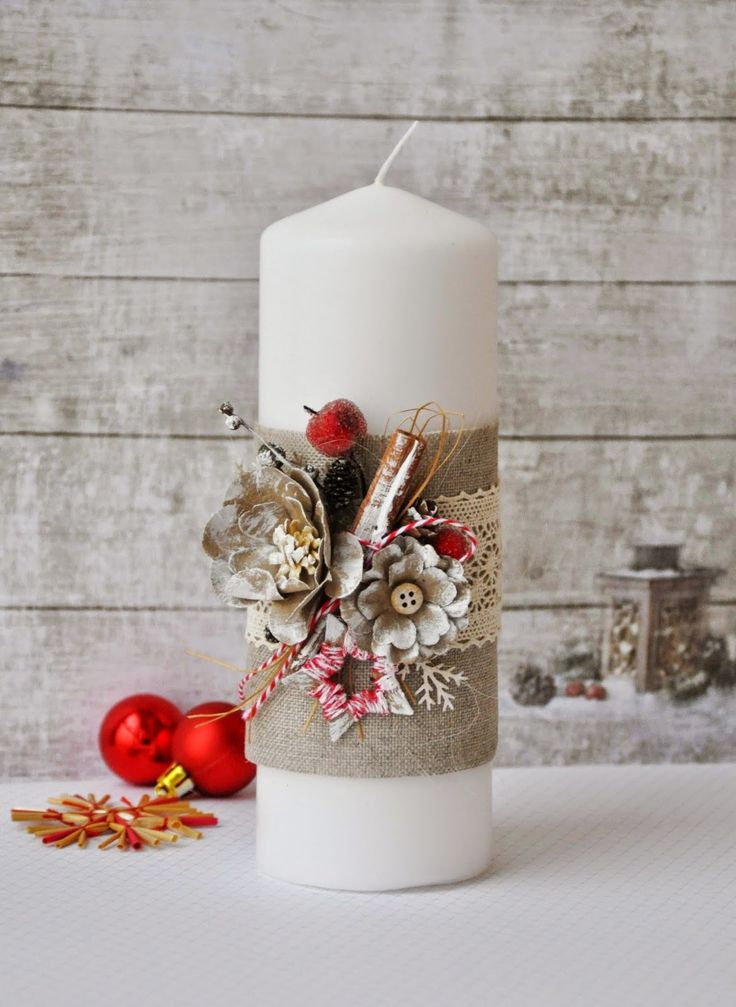 Best 25 decorating candles ideas on pinterest candle for Christmas candle gift ideas