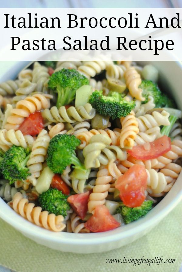Are you looking for an Italian Broccoli and Pasta Salad Recipe? This one is fast and healthy with fresh ingredients that taste so good! It is made with an Italian dressing sauce which is perfect for a side for dinner!
