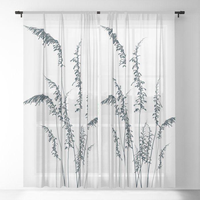 Wild Grasses Sheer Window Curtains Dormroomdecor Curtains Best