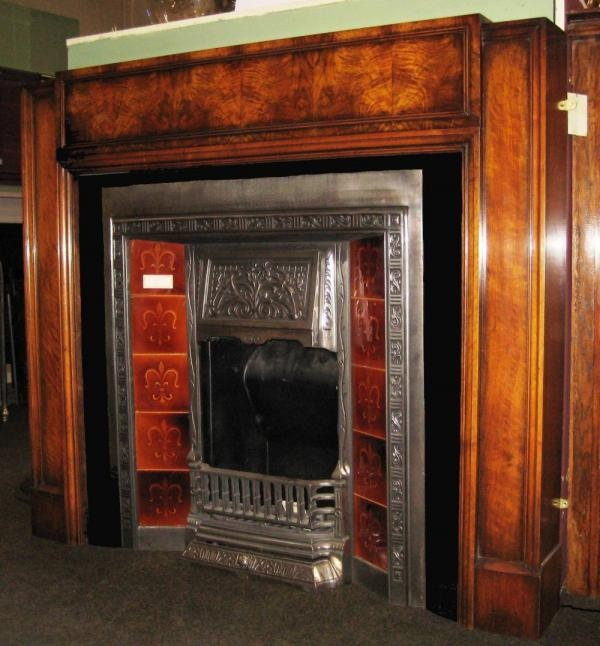 Antique Walnut 1930s Art Deco SurroundAWS 03 - Antique Burr Walnut 1930s Art Deco Surround a beautiful finish on a classic surround  						Price: £1450 inc V.A.T