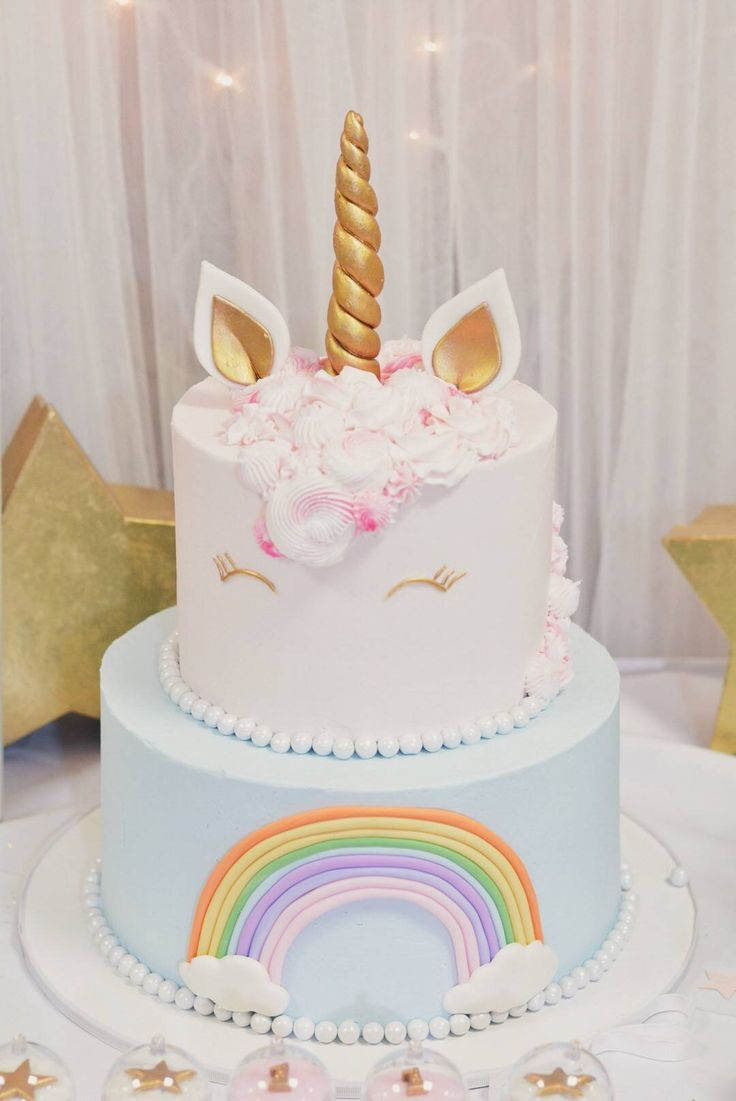 Sophia S Unicorn Birthday Party Unicorn Birthday Cake