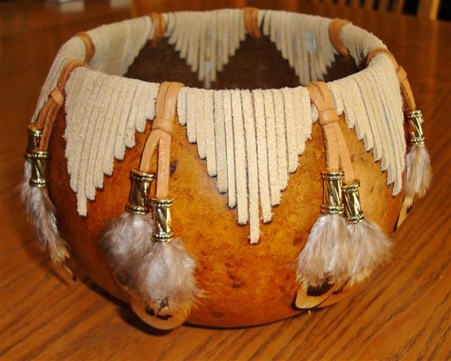 Decorated Dry Gourds// Amazing!