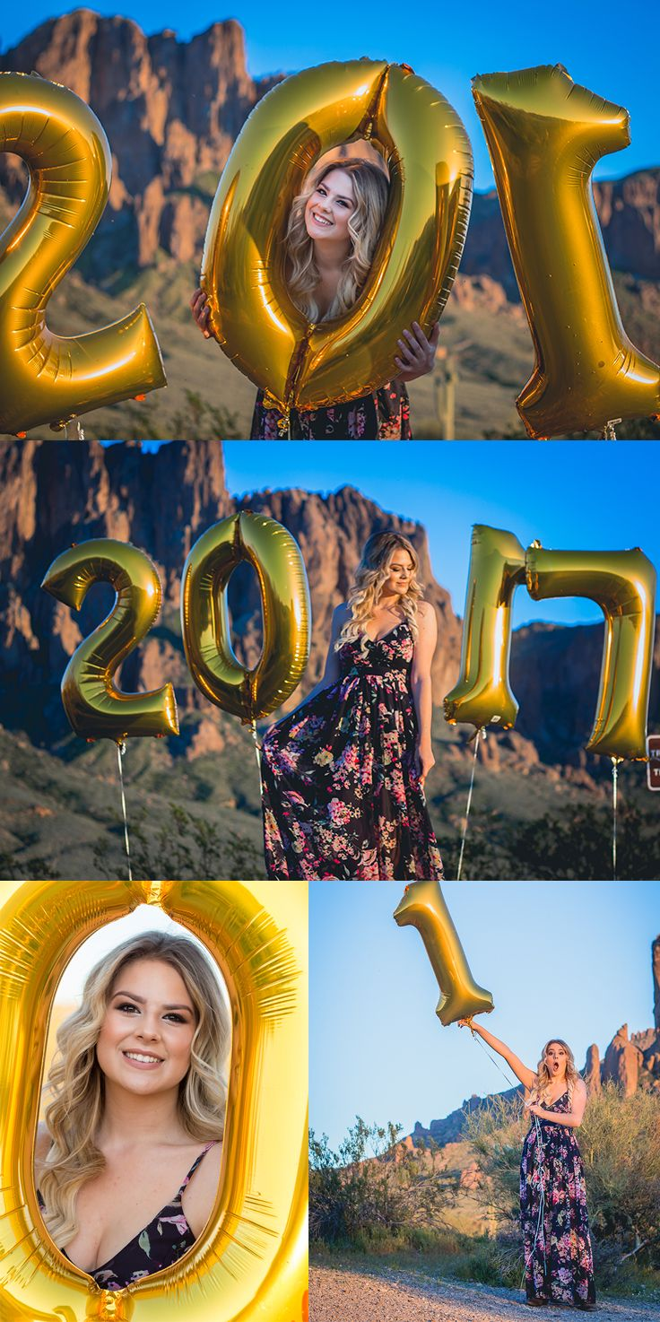 Senior Pictures, Senior Pictures with  Balloons, Class of 2017 inspiration, desert photo session - Sunshyne Pix by Sarah Robinson http://www.sunshynepix.com/Blog/Ashlee-Graduating-Gilbert-HighSchool