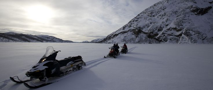 Snowmobiling in Northern Lapland, overnight expeditions:  http://www.kontikifinland.com/holidays/destination/1194882/nellim/aurora-borealis-in-lapland-guided-expedition