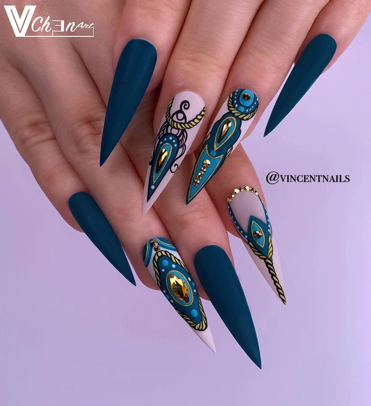 45 wunderschöne Matte Stiletto Nail Designs – Nails