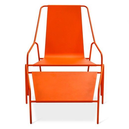 Posture Chair and Ottoman Set Orange - Modern by Dwell Magazine : Target