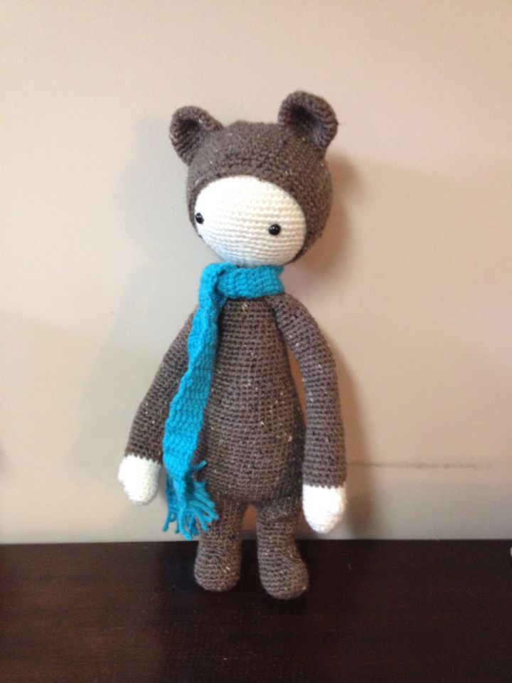 Bruce the Bear from Lalylala patterns made by Crocheted Little Ones