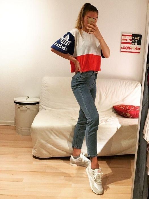 Adidas Vintage style crop Shirt NEU