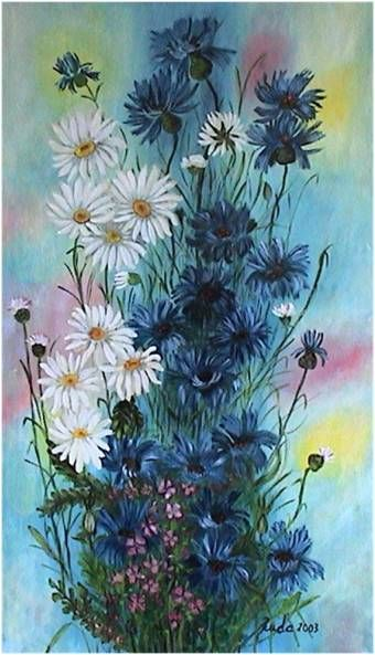 Flowers - oil painting canvas