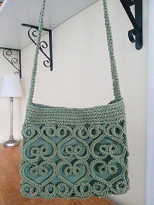 FASHIONABLE-Handmade-Green-Crochet-Knit-Shoulder-Purse