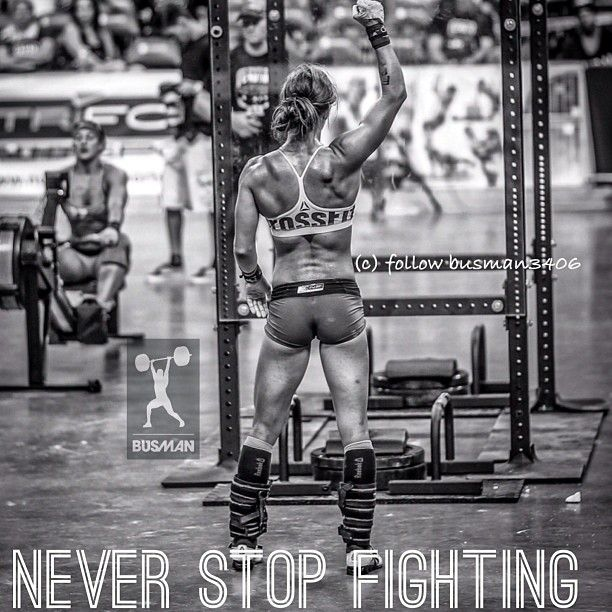 Never stop fighting, crossfit women are Badass!!