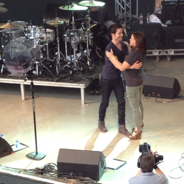 Rachael joins Train's Pat Monahan on stage at her Feedback event at SXSW 2011. The crowd (including me) went crazy!