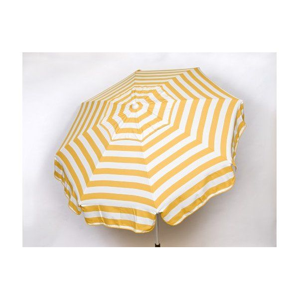 Check Out Heininger Holdings 1326 Italian 6 Ft Umbrella Acrylic Stripes Yellow And White Patio Pole