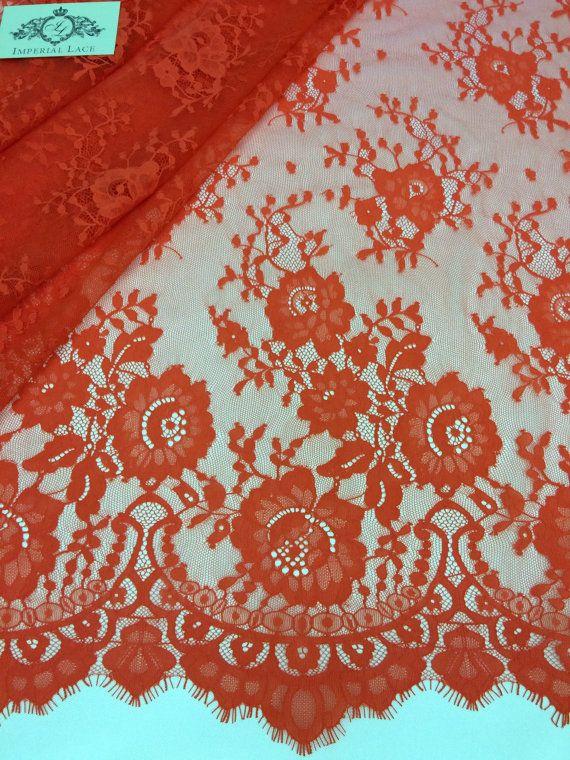 Orange Lace FabricOrange LaceOrange Chantilly Lace Orange