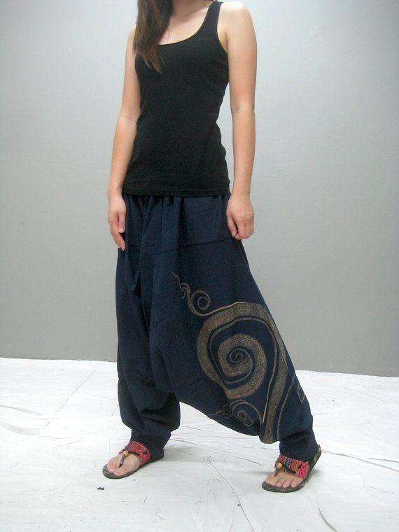 Swirl harem pant blue par thaitee sur Etsy, $39.00