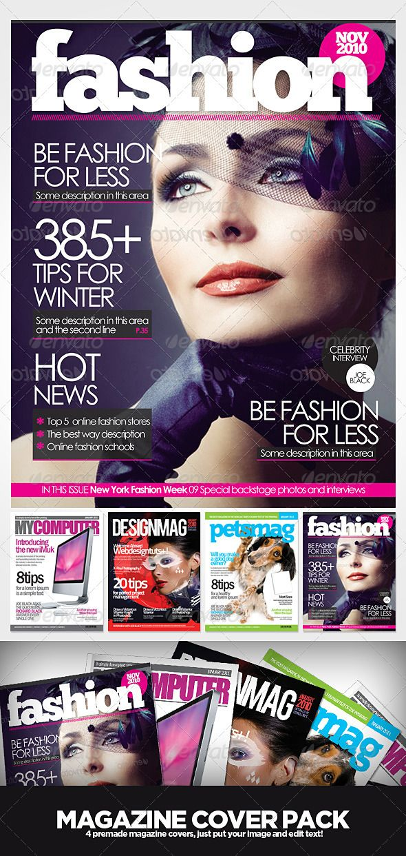 17 best ideas about Magazine Cover Template on Pinterest   Cover ...