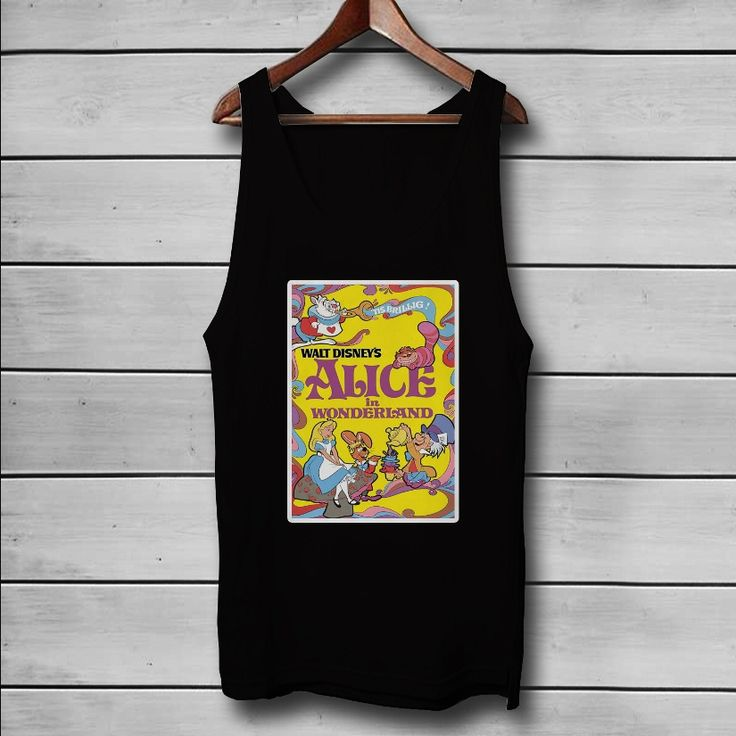 Alice In Wonderland Disney Custom Tank Top T-Shirt Men and Woman