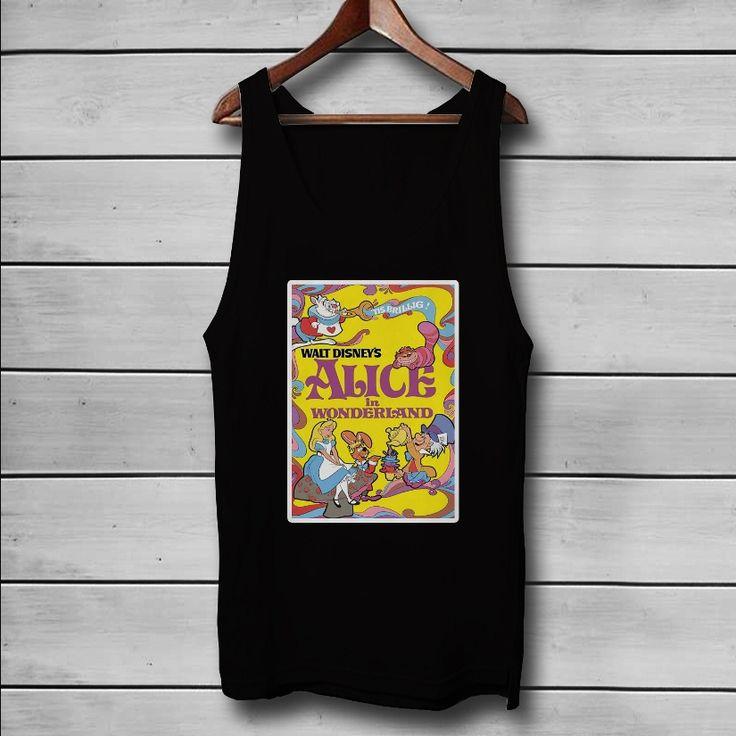 Alice In Wonderland Disney Custom Tank Top T-Shirt Men and Woman
