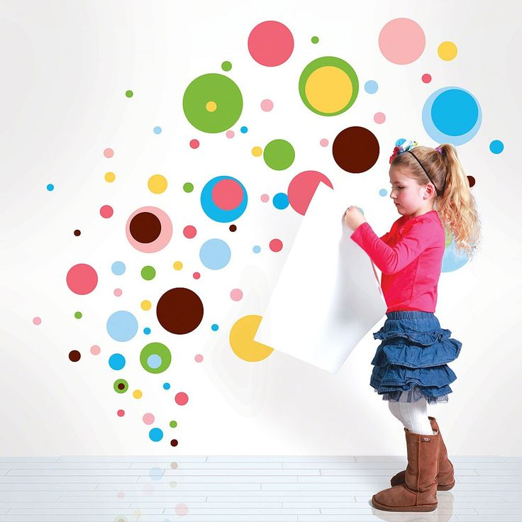Add a Dottilicious smattering of  groovy color to your room, classroom or bathroom with this funky wall decal kit! Create a different wall for every day. Your options for a pack of polka dot wall decals are endless.   Our vinyl peel and stick polka dot kids wall decals are removable, reusable, non-toxic, BPA free and 100% made in the USA!  $54.00