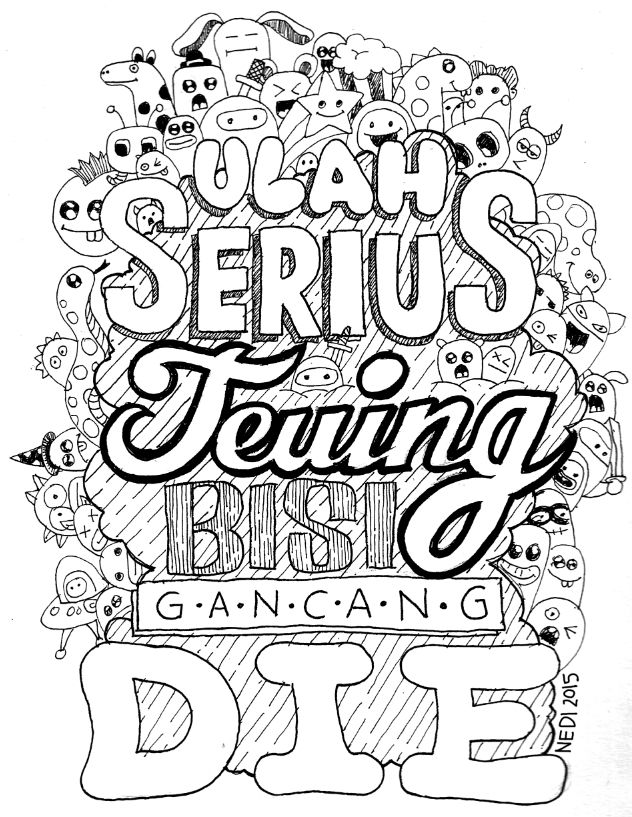 doodle vs typo #illustration #drawing #lineart #typography #micronpen #doodle