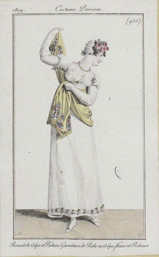 costume parisien 1809 from the biblioth que des arts d coratifs via sceneinthepast flickr. Black Bedroom Furniture Sets. Home Design Ideas