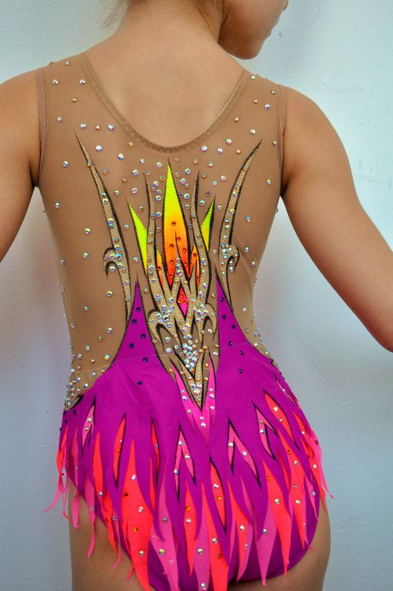Competition Rythmic Gymnastic Leotard by iiuliia on Etsy