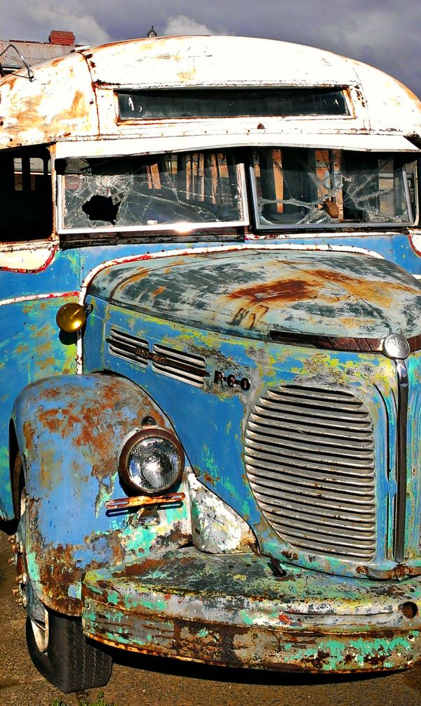 Old Bus at Willow Court, New Norfolk #DerwentValley #Tasmania Article and photo for think-tasmania.com