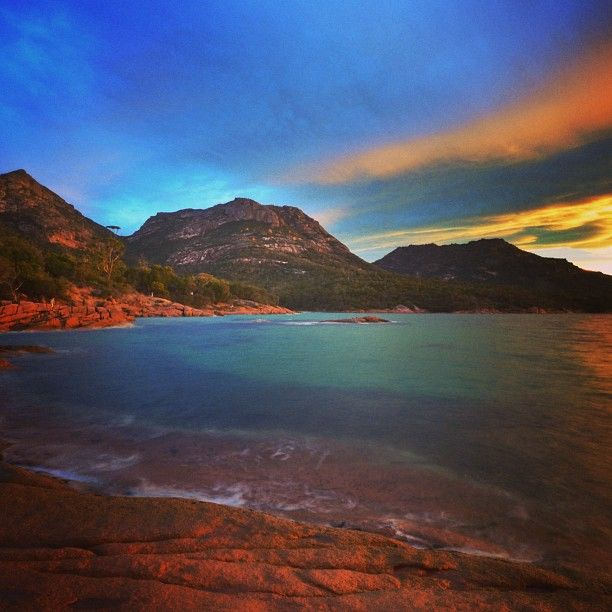 Sunset Honeymoon Bay...Tasmania.... #Australia     by walruswhisperer (instagram)