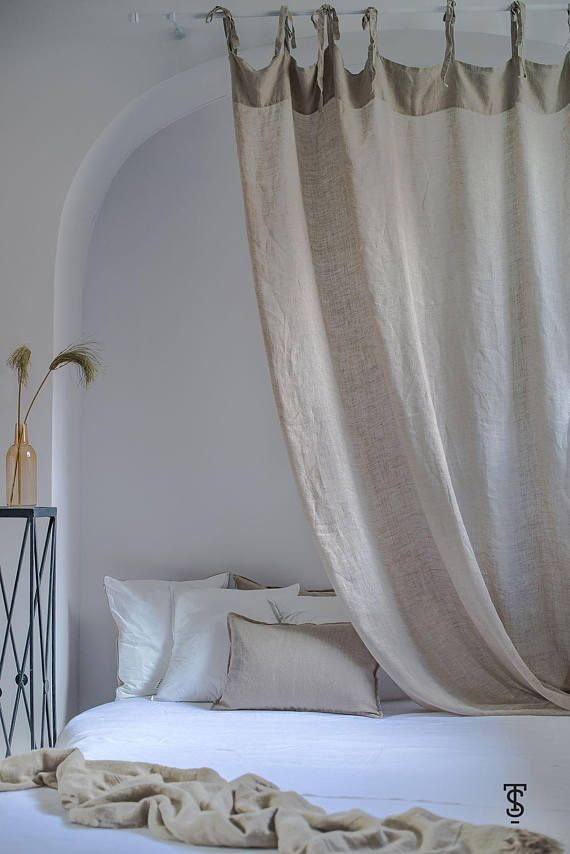 White Bed Canopy Eco Linen Bed Canopy Zero Waste Canopy Bed Curtains Bed Canopies Sheer Bed Canopy White Bed Canopy Girls Bed Canopy Canopy Bed Curtains