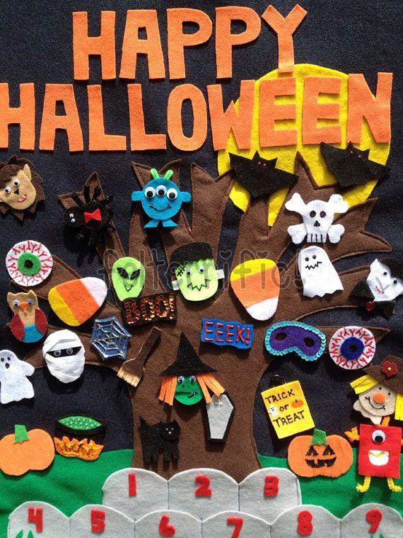 Handmade Felt Halloween Countdown Calendar by felterrific on Etsy, $64.99