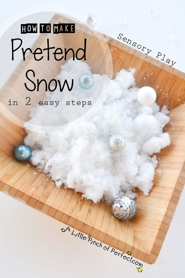 A Little Pinch of Perfect: Sensory Play: How to Make Pretend Snow in 2 Easy Steps with only 2 ingredients that will surprise you!