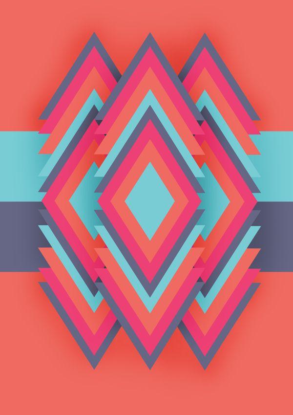 Geometric pattern by Jason Quilang, via Behance