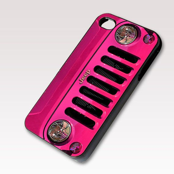 $15 Pink Jeep Wrangler, Photo on Hard Case for iPhone 4 / 4s or iPhone 5 case