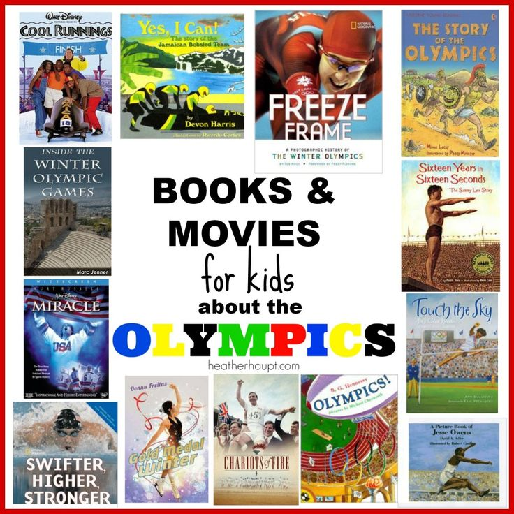 A great collection of engaging books and classic movies for kids as we gear up for the Olympics!
