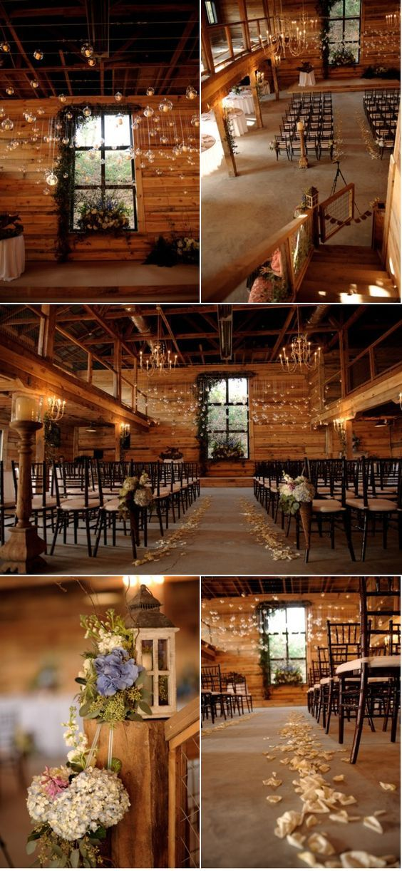 rustic country barn wedding decor ideas / http://www.himisspuff.com/rustic-indoor-barn-wedding-reception-ideas/9/