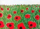 Artsonia Art Exhibit :: 2nd Grade Poppies in Perspective (Hoens)