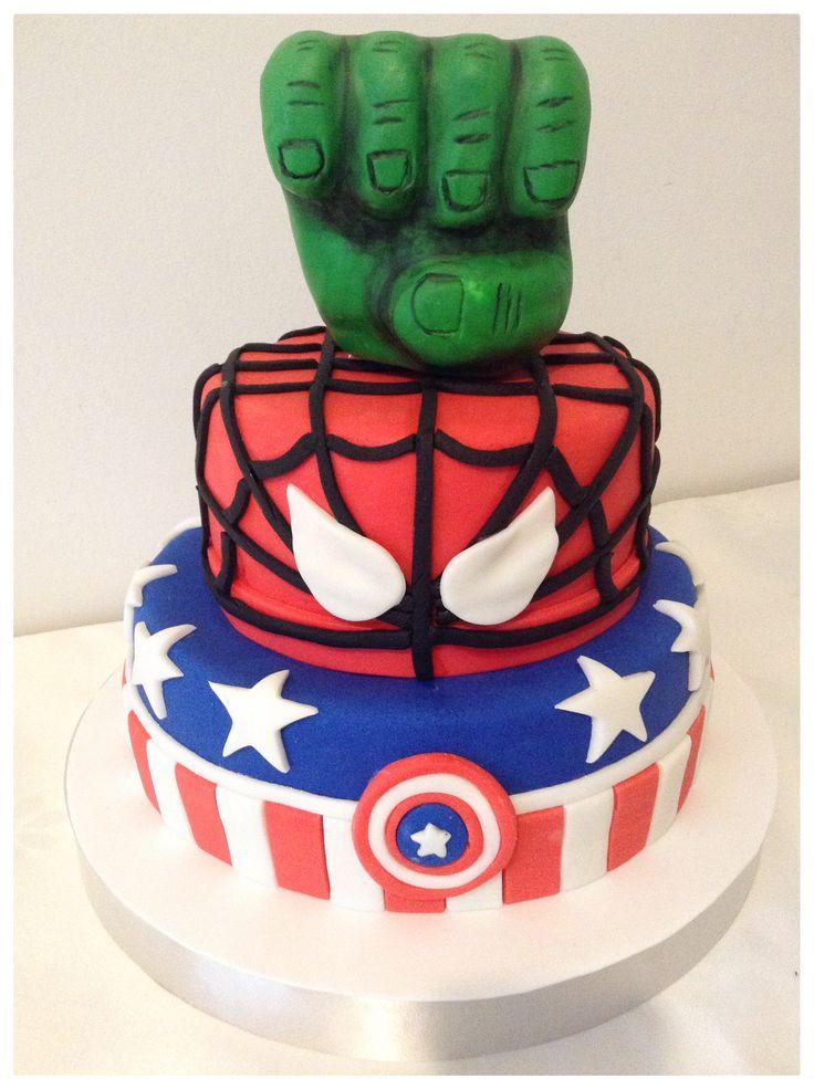 D Avengers Cake