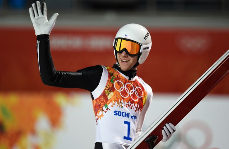 Nicholas Alexander of the United States reacts during the Men's Large Hill Individual Qualification (c) Getty Images