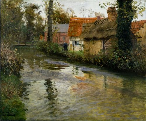 Fritz Thaulow Norwegian, 1847 - 1906 The Stream, ca. 1895 Norwegian Painting Oil on canvas