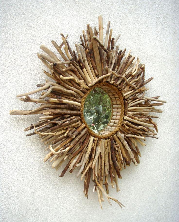 Baja Sunburst Driftwood Mirror - Large