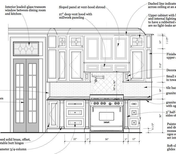Kitchen Design Elevations interior elevations and millwork | architecture | pinterest