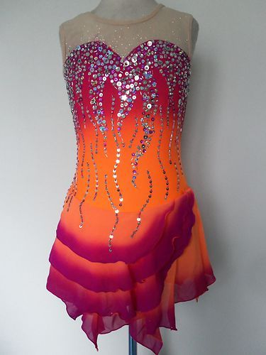 New Ice Skating Twirling Dress Custom Made to Fit   eBay