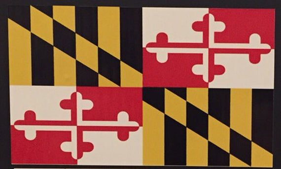 Maryland Flag 5 Decal Etsy Maryland Flag State Flags Flag Coloring Pages