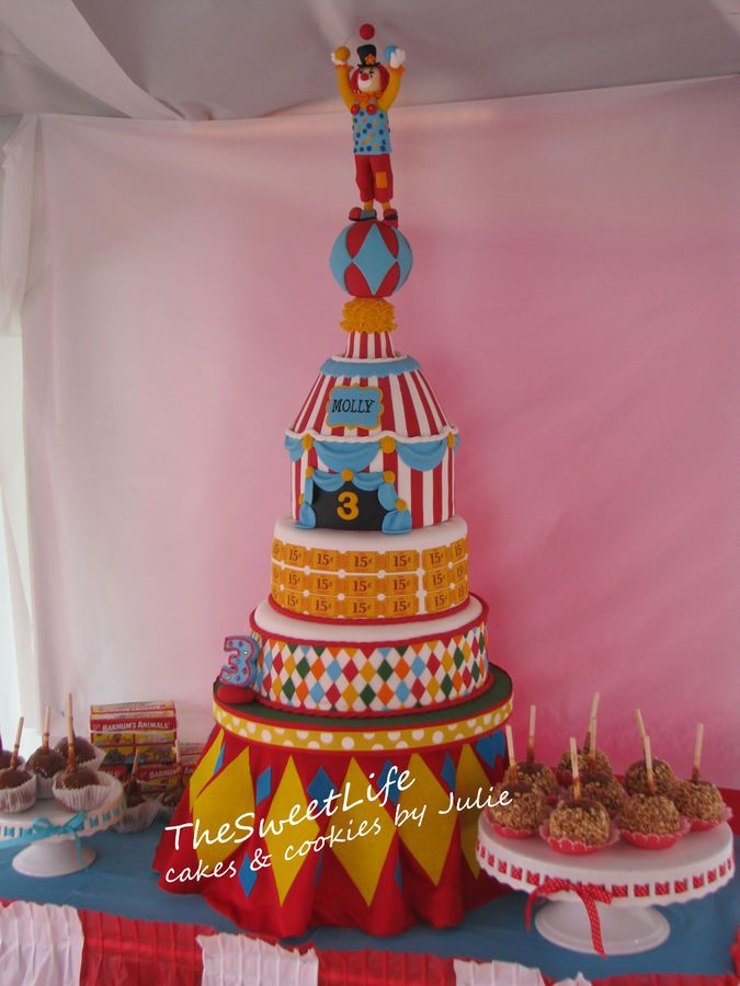 10 best Inspirao Circo images on Pinterest Circus cakes