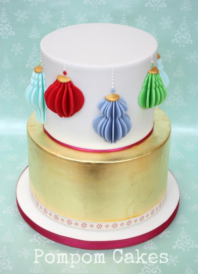 Christmas paper lanterns - Cake by PompomCakes