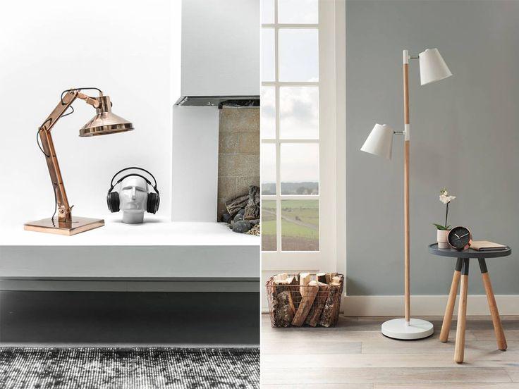 Ook in een stoer, mannelijk interieur met veel koele kleuren passen koperen woonaccessoires goed. #accessoires #koper #decoratie #inrichting