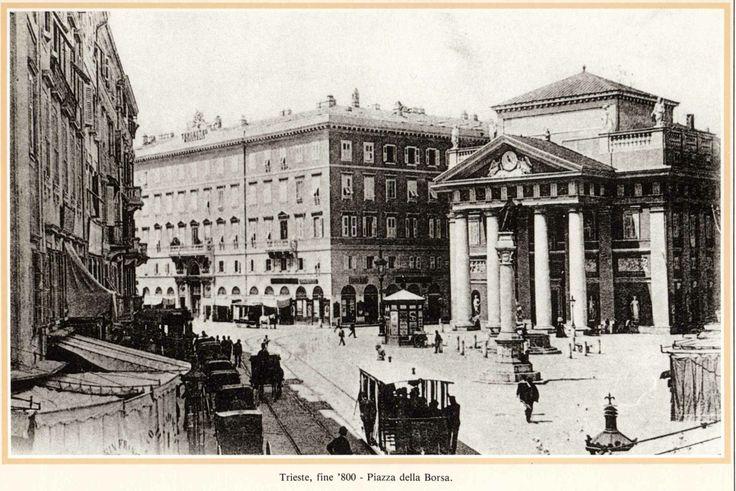 Vecia Trieste: Piazza della Borsa , fine '800 Triesteraccontatrieste