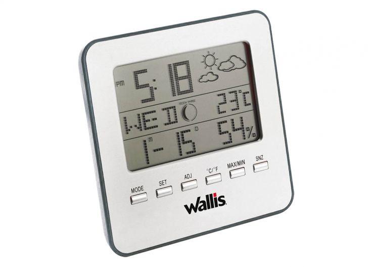 Se puede colgar en la pared o poner sobre una mesa, ideal para interiores Funciones:  * Hora (formato de 12 ó 24 hrs.) * Alarma (función de dormitar de 4 veces)  * Calendario (año, mes, fecha y día), programado a 49 años (2003 al 2052), fases de la...