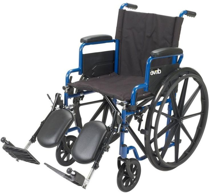 Drive Blue Streak Wheelchair with Flip Back Desk Arms and Elevating Leg Rests #Drive #WheelChair