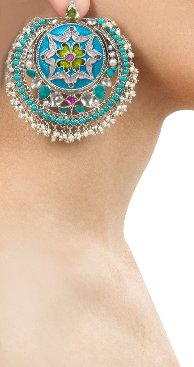 Beautiful http://www.AmrapaliJewels.com/index.php #Earrings, India